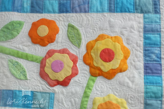 applique flowers and leaves