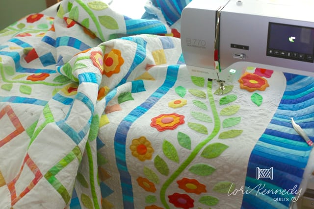 BERNINA 770QE applique quilt