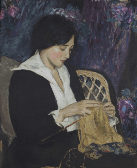 Edith Mitchill Prellwitz, Young Woman Knitting