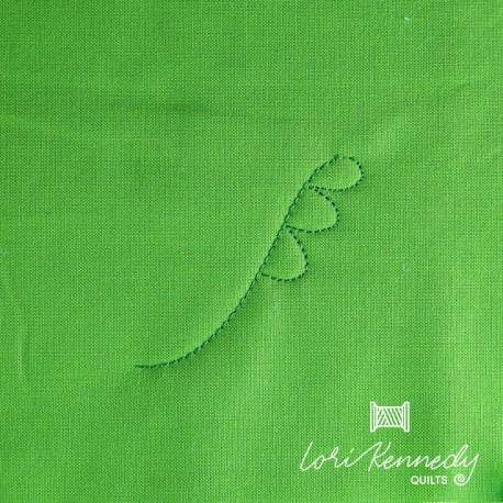How to machine quilt Ferns and Fiddleheads, Step 2