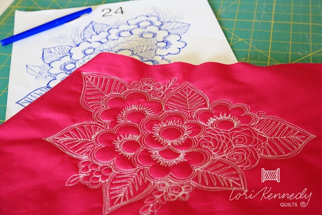 How to Doodle and Quilt a Bouquet of Flowers - Lori Kennedy
