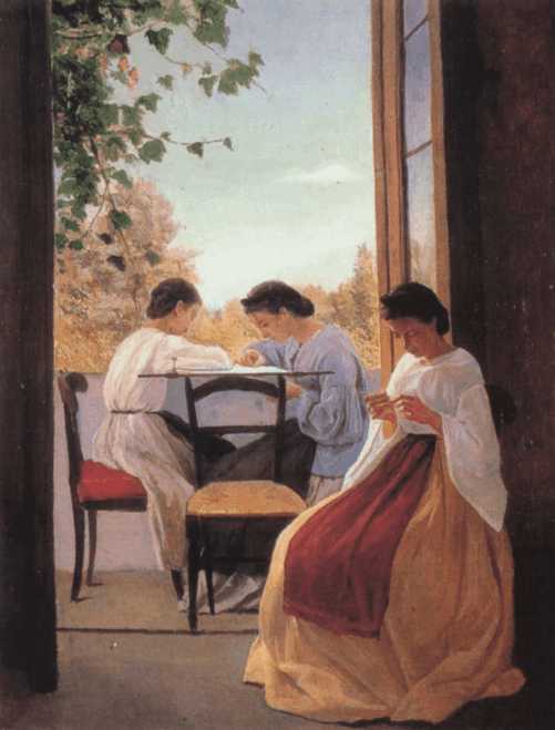 Adriano Cecione, The Embroiderers