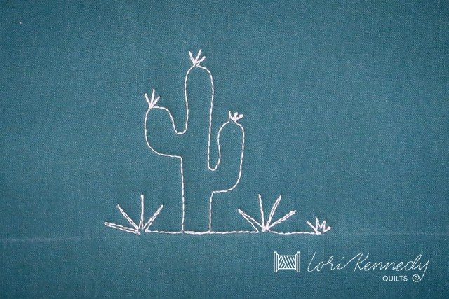 how to quilt a cactus, optional steps