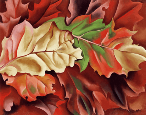 Georgia O'Keeffe Autumn Leaves
