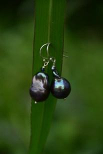 Blue Baroque Pearls with Swarovski Crystal - $35