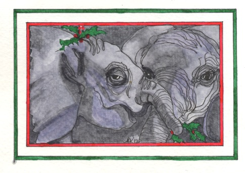Christmas Elephants - D&TX12 $4