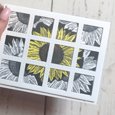 Sunflower Card with new product from CTMH