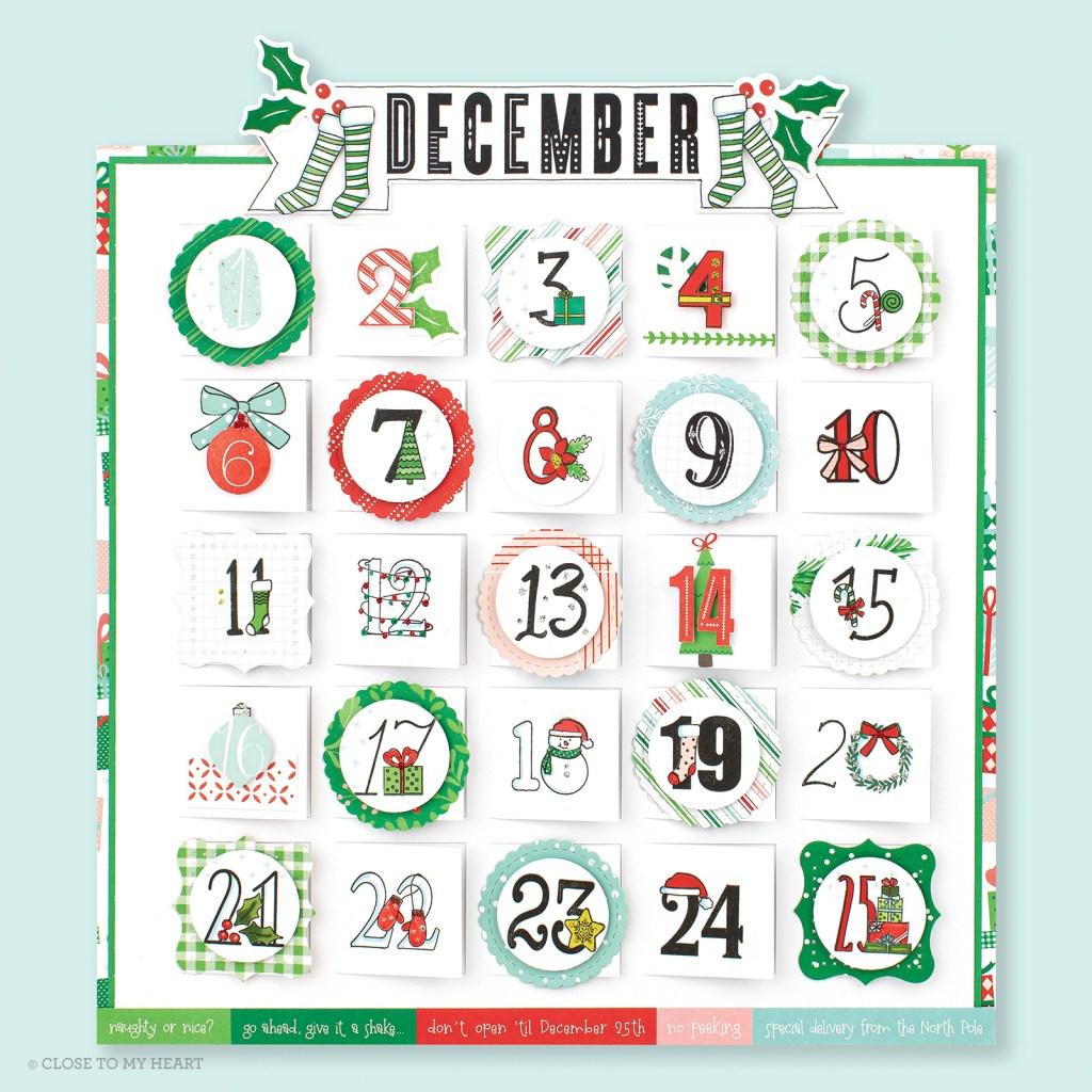 Calendar Page - Holly Jolly