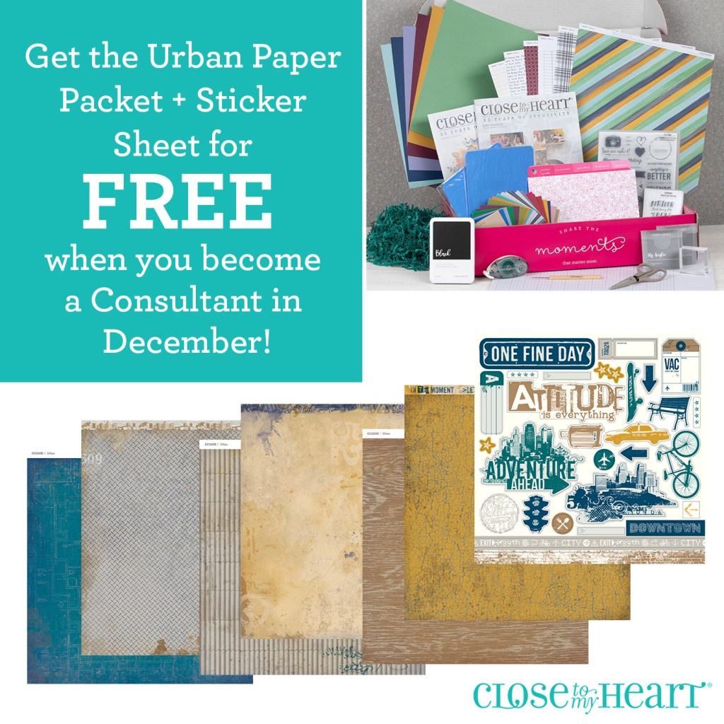 Free Urban paper pack when you become a consultant