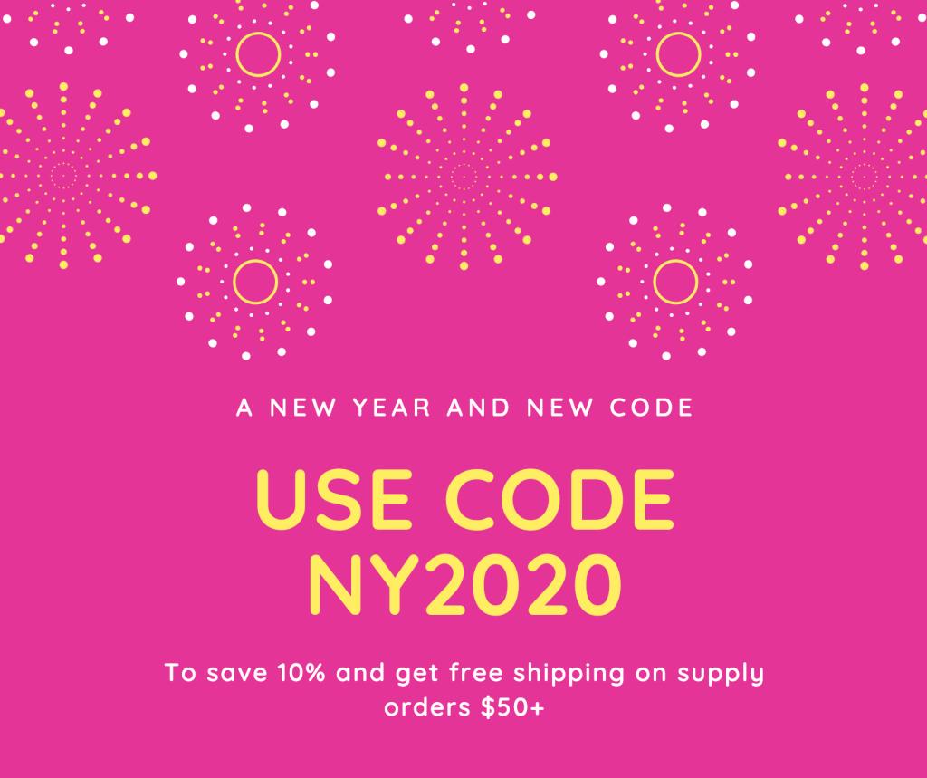 New Discount code