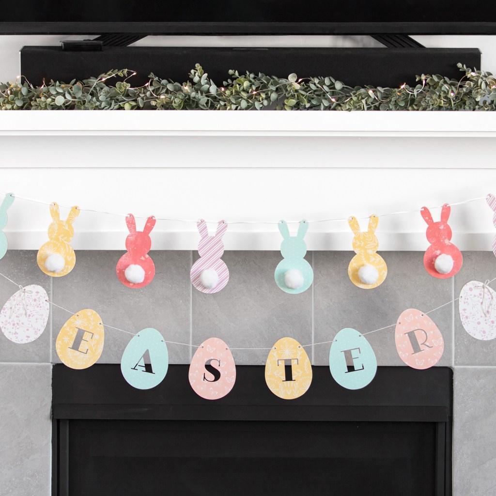 Bunny Wood & Easter Eggs Wood Banners