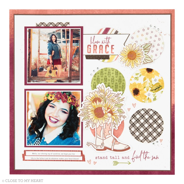 Scrapbooking Stamp & Thin Cut - Bloom with Grace