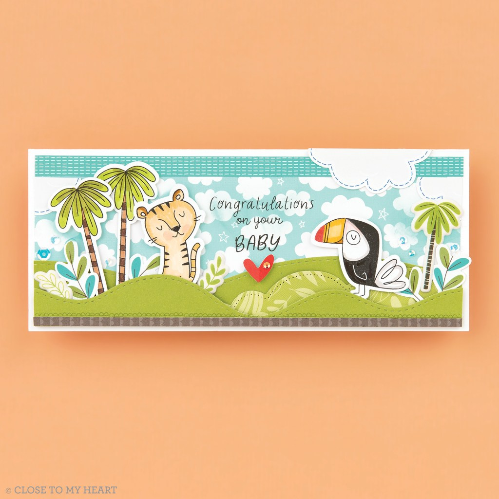Cardmaking Stamp and Thin Cuts - Sweet Safari