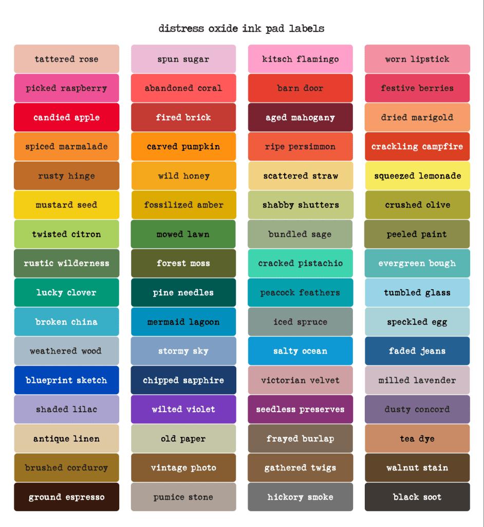 Tim Holtz Color Label Sheet
