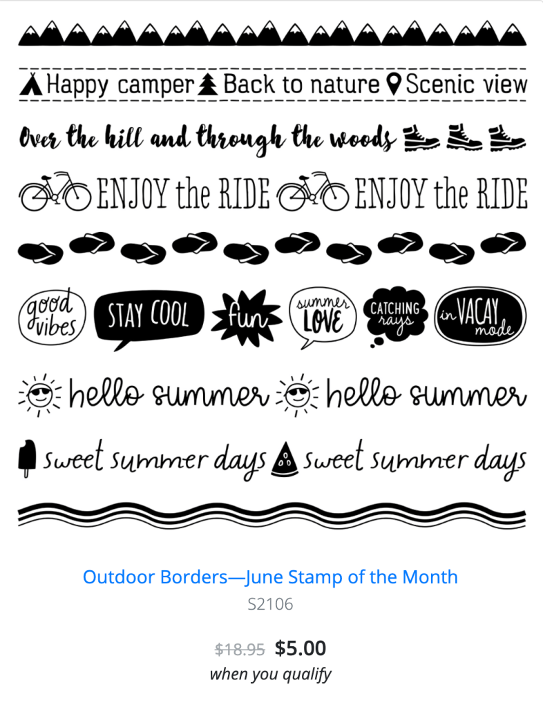 June Stamp of the Month - Outdoor Borders