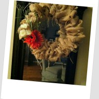 Tickled Pink Tutorial: Burlap Wreath (I Love Autumn!!)