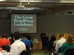 John Ford presenting on WordPress security