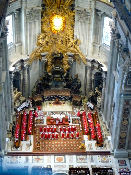 Observing a service from the top of St Peter's