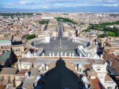 Outside the dome of St Peter's