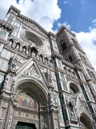 Looking up at the Duomo