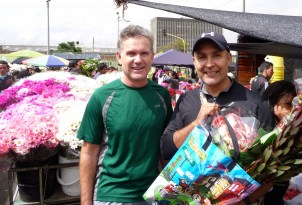 Cris and Tony with our flowers