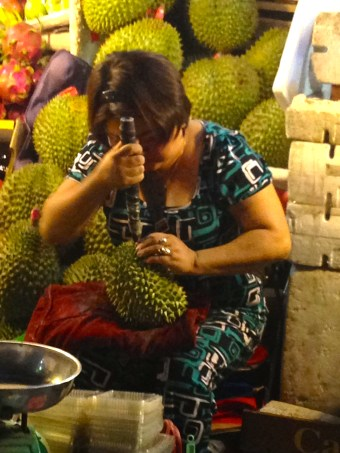 Durian is hard work