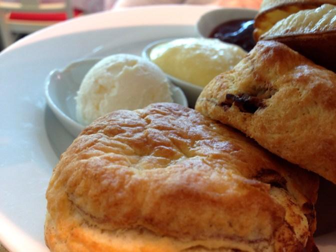 Close up of the cinnamon scones - mmmmm!