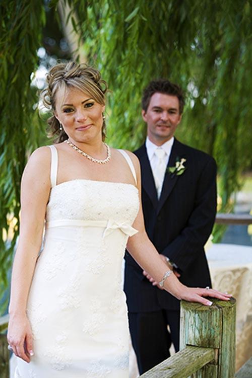 Scott and Tanya at their Lodi wedding at Amorosa Inn and Gardens