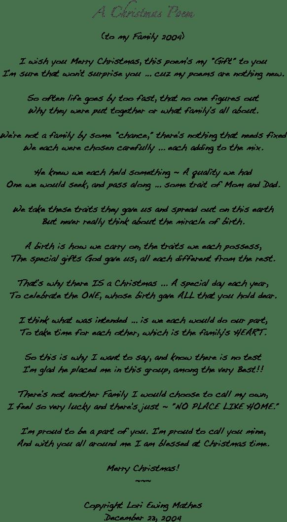 jprat jpret wow: A Christmas Poem to My Family