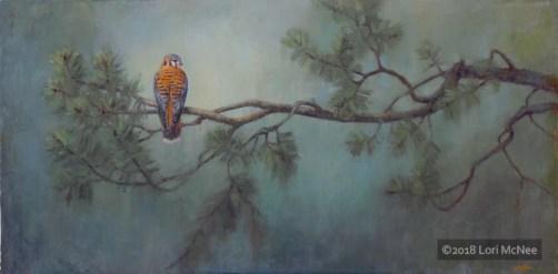 ©2018 Lori McNee Evergreen Mist 48x24 Oil on linen