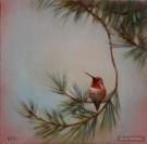 ©2009 Lori McNee Northern Visitor 12x12 Oil on panel