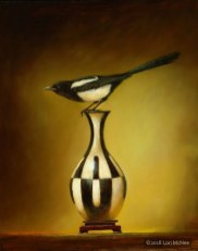 ©2006 Lori McNee On Edge - Magpie 30x24 Oil on panel