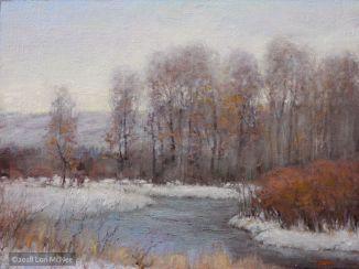 ©2018 Lori McNee Winter Grays 18x24 Oil on linen