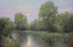 ©2019 Lori McNee June Moon24x36oil on canvas