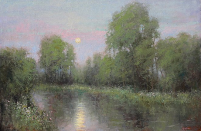 ©2019 Lori McNee June Moon24x36oil on canvas