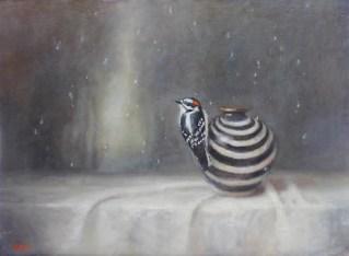 ©2019 Lori McNee Snow Flurry18x24oil on linen