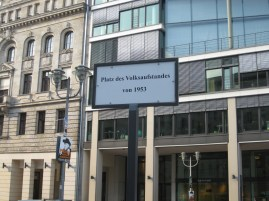 A memorial for the People's Uprising in East Germany