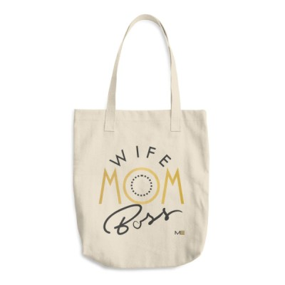 Mom Wife Boss Cotton Canvas Tote Bag ~ Modern Empowerment®