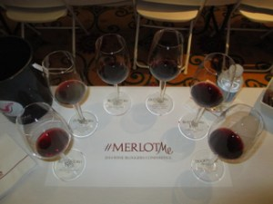 Merlot tasting at Wine Bloggers Conference, 2014