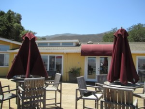 The terrace at the Hahn Estate tasting room is a great place to enjoy a glass of wine.