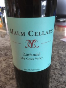 Malm Cellars 2012 Zinfandel, Dry Creek Valley