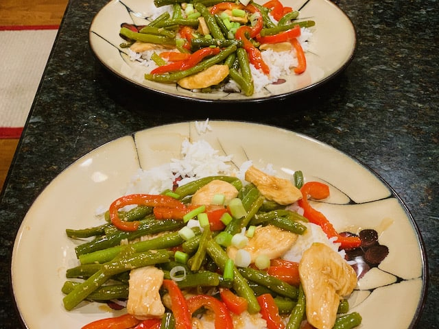 2 plates stir fry