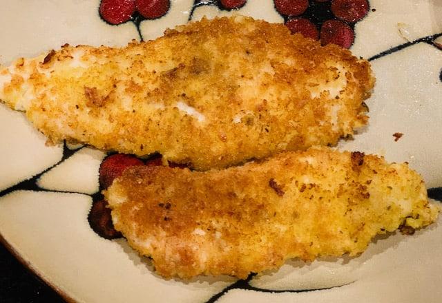 Pan-fried chicken cutlets