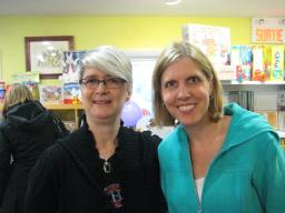 With children's author Jennifer Lloyd at Babar Books double launch.