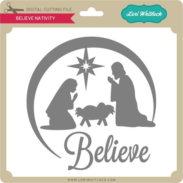 Free Nativity Scene Silhouette Stencil