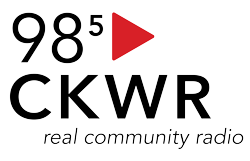 CKWR 98.5 FM logo, home of KW Magazine