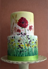 Hand-painted Meadow Wedding cake | Lorna's Cakery