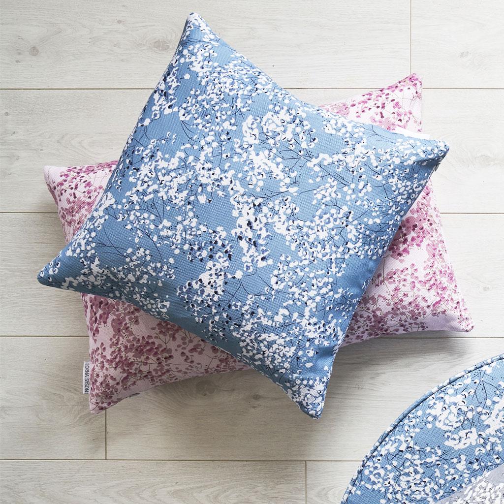 arla blue cushion square