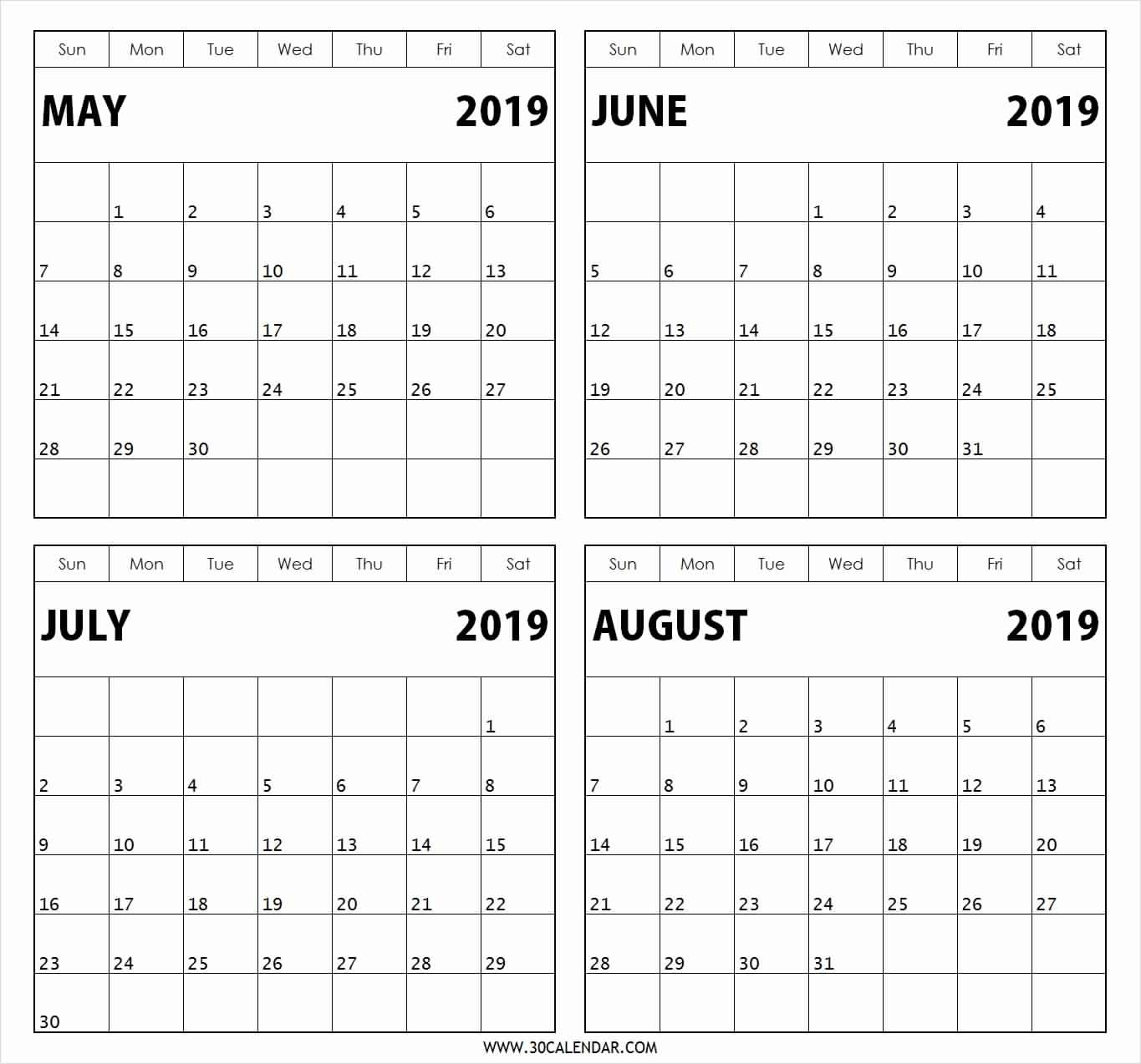 Free Printable 2020 Two Months Per Page Calendars ...