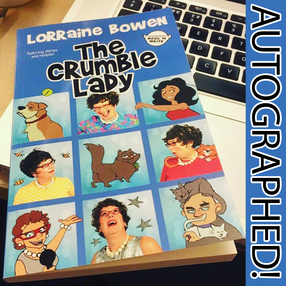The Crumble Lady Book – Autographed from Lorraine!